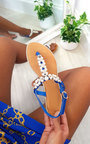 Tianna T Bar Pearl Embellished Sandals Thumbnail
