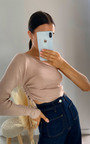 Tiff Knitted One Shoulder Top Thumbnail