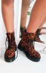 Tilda Lace Up Biker Boots Thumbnail