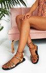 Tillie Double Strap Studded Sandals  Thumbnail