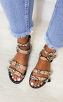 Tillie Double Strap Studded Sandals  Thumbnail