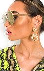 Tillie Oversized Round Sunglasses Thumbnail