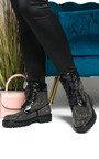 Timberlina Lace Up Biker Boots Thumbnail
