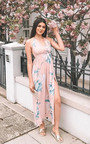 Tina Backless Floral Maxi Dress Thumbnail