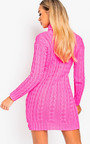 Toni Chunky Knit Long Sleeved Jumper Dress Thumbnail