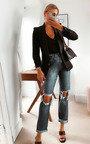 Toni Distressed Straight Leg Jeans Thumbnail
