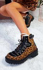Toni Faux Fur Lace Up Desert Boots Thumbnail