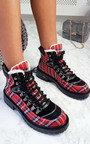 Toni Faux Fur Lace Up Desert Boots Thumbnail