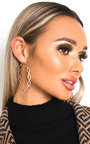 Trina Detailed Hoop Earrings  Thumbnail