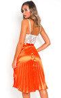 Trina Metallic Pleated Midi Skirt Thumbnail
