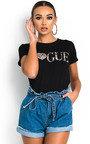 Trina Slogan Stretch T-shirt Thumbnail