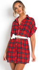 Trix Checked Shirt Dress Thumbnail