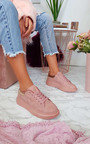 Trixi Faux Suede Trainers  Thumbnail