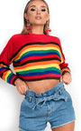 Trixie Stripe Crop Knitted Jumper Thumbnail