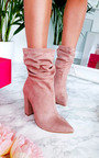 Tullah Faux Suede Heeled Ankle Boots Thumbnail