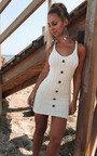 Tyla Knitted Button Mini Dress Thumbnail