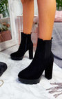 Tyra Chunky Heeled Ankle Boots Thumbnail