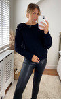 Uma Knitted Jumper with Pearl Detail Thumbnail
