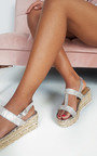 Una Diamante Embellished Wedged Sandals Thumbnail