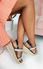 Una Diamante Embellished Wedged Sandals Thumbnail