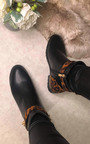 Una Faux Leather Leopard Ankle Boots Thumbnail