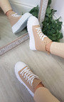 Una Lace Up Chunky Hi-Top Trainers Thumbnail