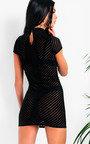 Val Mesh High Neck Bodycon Dress Thumbnail
