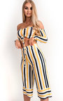 Val Off Shoulder Culotte Striped Co-ord Thumbnail
