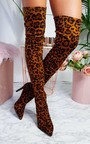 Valentina Stretch Thigh High Embellished Boots  Thumbnail