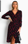 Valentina Wrap Midi Dress Thumbnail