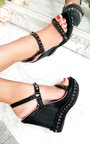 Valentine Studded Strap Wedges Thumbnail