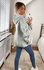 Valerie Ruched Sleeve Hooded Sweatshirt Thumbnail