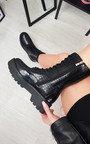 Vanessa Lace Up Chunky Boots Thumbnail