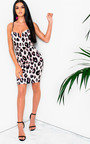 VeeVee Leopard Print Boydcon Midi Dress Thumbnail