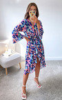 Velma Printed Midi Dress Thumbnail