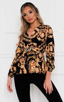 Venice Belted Blouse Top Thumbnail