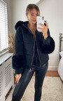Verity Faux Fur Cuff Jacket Thumbnail