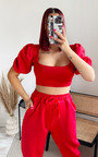 Vic Cropped Puff Sleeve Co-ord Thumbnail