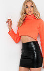 Vicki Faux Leather Skirt  Thumbnail
