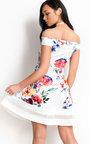 Victoria Off Shoulder Floral Skater Dress Thumbnail