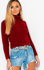 Vida Poloneck Knit Stretch Jumper  Thumbnail