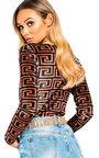 Vivi Printed Velvet Bodysuit Thumbnail