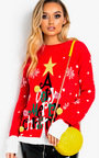 Vixen Oversized Slogan Christmas Jumper  Thumbnail