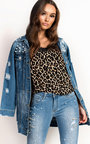 Willow Pearl Embellished Long-lined Denim Jacket Thumbnail