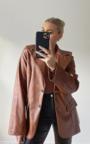 Winnie Faux Leather Blazer Jacket Thumbnail