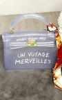 Xanthe  Clear Slogan Handbag Thumbnail