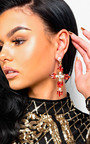 Xanthe Diamante Cross Statement Earrings  Thumbnail
