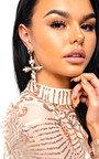Xanthe Diamante Cross Statement Earrings  Thumbnail