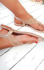 Xanthe Diamante Embellished T-Bar Sandals Thumbnail