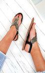 Xanthe Diamante Embellished T-Bar Sandals Thumbnail
